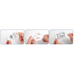 DURABLE Namensschild CLASSIC, mit Magnet, 65 x 30 mm, silber