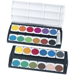 herlitz Deckfarbkasten ST24, 24 Farben, aus Kunststoff