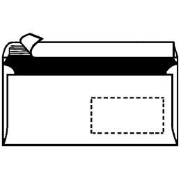 herlitz Briefumschlag, DIN lang, ohne Fenster, weiß