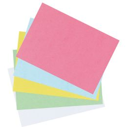 herlitz Karteikarten, DIN A7, liniert, rosa