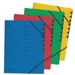 herlitz Ordnungsmappe easyorga, A4, Karton, 7 Fächer, rot