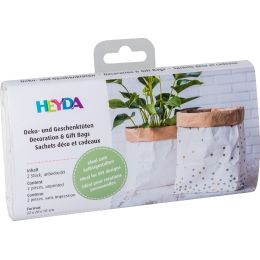 HEYDA Papier Dekobeutel/Geschenktüte, weiß / natur, klein