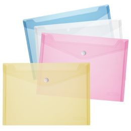 herlitz Dokumententasche, DIN A5, PP, blau/transparent
