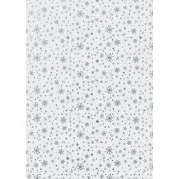 HEYDA Tischlichter-Faltblätter, transparent, Sterne silber