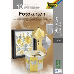 folia Fotokartonblock, DIN A4, 300 g/qm, gold und silber