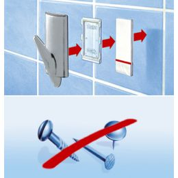 tesa Powerstrips Haken SMALL Metall, halbrund
