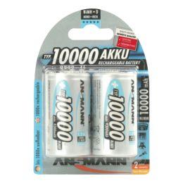 ANSMANN maxE NiMH Akku, Mono D, 2er Blister, 10.000 mAh
