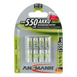 ANSMANN maxE NiMH Akku, Micro AAA, 4er Blister, 550 mAh