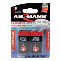 ANSMANN Alkaline Batterie, E-Block 6LR61, 9 Volt 2er Blister