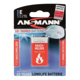 ANSMANN 10-Jahres Lithium Batterie, E-Block (9V)
