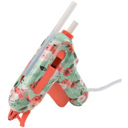WESTCOTT Mini-Heißklebepistole Floral mit Non-Stick Düse