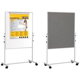 Bi-Office Kombitafel Duo, Weißwand / Filz, 700 x 1.200 mm