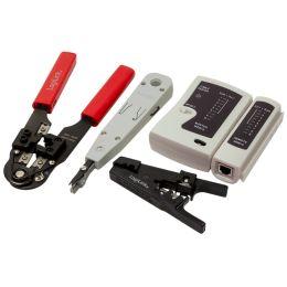 LogiLink Netzwerk-Werkzeug-Set, in schwarzer Tasche