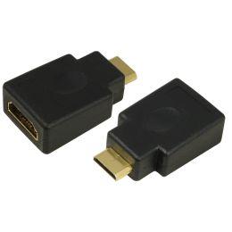 LogiLink Mini Adapter, HDMI Kupplung - HDMI Stecker, 19 Pol