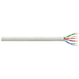 LogiLink Installationskabel, Kat. 6, U/UTP, 100 m, lichtgrau