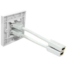 LogiLink Anschlussdose, 2 x HDMI, geschirmt, weiß