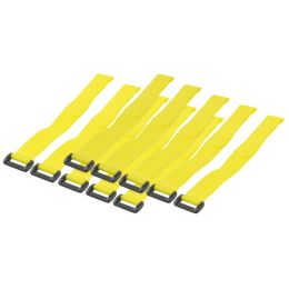 LogiLink Klett-Kabelbinder, 300 x 20 mm, gelb