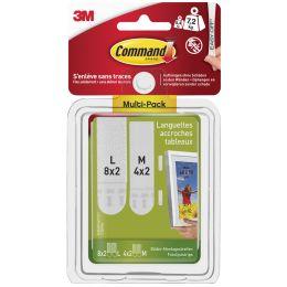 3M Command Bilder-Montagestreifen Strips, Multipack (M/L)