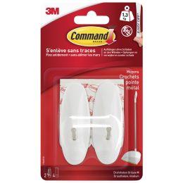 3M Command Draht-Haken, Kunststoff/Metall, weiß, Größe: M