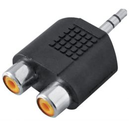 LogiLink Audio-Adapter, 3,5 mm Klinkenstecker - 2x Cinch-