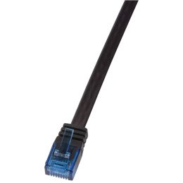 LogiLink U/UTP Flach-Patchkabel, Kat. 5e, 0,25 m, weiß