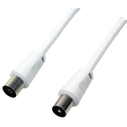 LogiLink Antennenkabel, Stecker - Kupplung, weiß, 2,5 m
