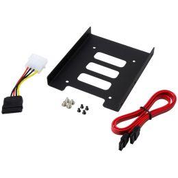 LogiLink Einbaurahmen für 2,5 Festplatten, einfach, schwarz