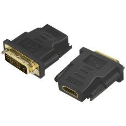 LogiLink HDMI Kupplung - DVI-D 24+1 Stecker Adapter, schwarz