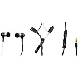 TYPHOON In-Ear Headset UniqueZipper, schwarz/weiß
