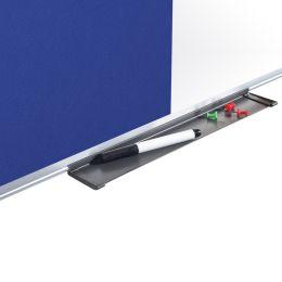 Bi-Office Kombitafel, Weißwand / Filz, blau, 600 x 450 mm