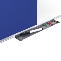 Bi-Office Kombitafel, Weißwand / Filz, blau, 900 x 600 mm