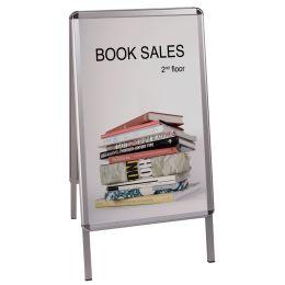 Bi-Office Plakatständer, Aluminiumrahmen, 635 x 1.090 mm