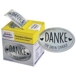 AVERY Zweckform Promotion-Etiketten Danke, silber