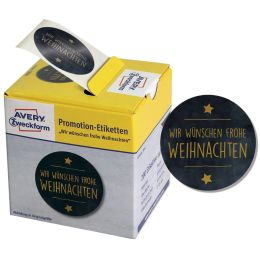 AVERY Zweckform Promotion-Etiketten Weihnachten, schwarz