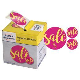 AVERY Zweckform Promotion-Etiketten Sale, pink gelb