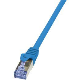 LogiLink Patchkabel, Kat. 6A, S/FTP, 0,25 m, blau