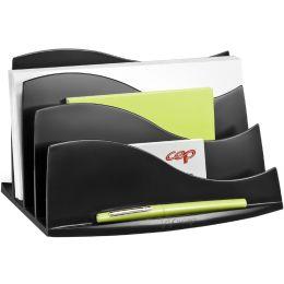CEP Briefständer ELLYPSE OWA, 3 Fächer, Polystyrol, schwarz