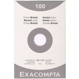 EXACOMPTA Karteikarten, 100 x 150 mm, kariert, grün