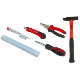 BRÜDER MANNESMANN Werkzeug-Satz, 7-tlg, schwarz / rot