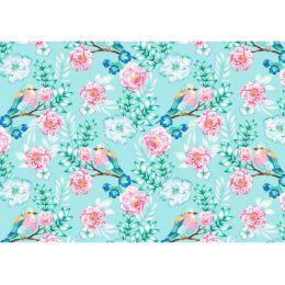 SUSY CARD Geschenkpapier Flower and Birds, auf Rolle