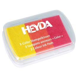 HEYDA Stempelkissen 3-Color, gelb/orange/rot