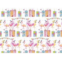 SUSY CARD Geschenkpapier Flamingos, auf Rolle