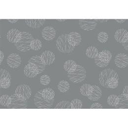 SUSY CARD Geschenkpapier Scribbled Circles grau, auf Rolle