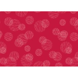 SUSY CARD Geschenkpapier Scribbled Circles rot, auf Rolle