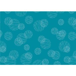 SUSY CARD Geschenkpapier Scribbled Circles petrol, Rolle