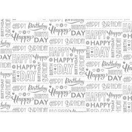 SUSY CARD Geschenkpapier Typo Happy, auf Rolle