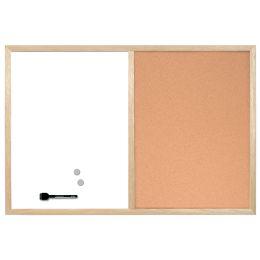 Bi-Office Kombi-Tafel mit Holzrahmen, (B)600 x (H)400 mm