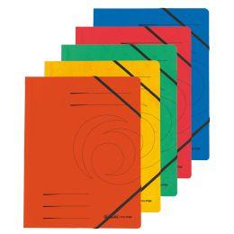 herlitz Eckspanner easyorga, A4, Colorspan-Karton, schwarz