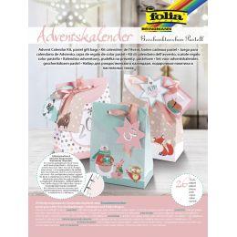 folia Adventskalender Geschenktaschen Pastell, 26-teilig