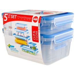 emsa Frischhaltedose CLIP & CLOSE, 5er Set, 0,25 - 2,3 Liter